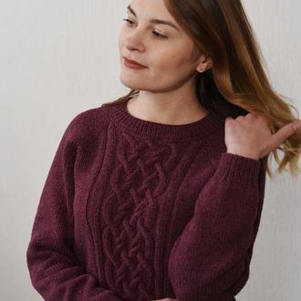 Классический свитер с аранами