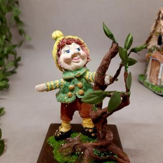 """Коллекционная ватная игрушка """"Лесной гном"""""""