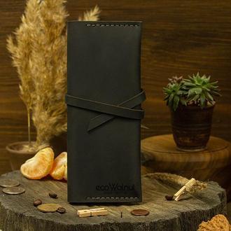 Стильный кожаный аксессуар Кожаный кошелек Подарок Мужчине Женщине  Кожаный Подарок