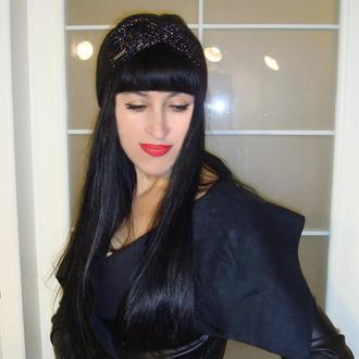 Вязаная повязка на голову чалма женская - коллекция 2020