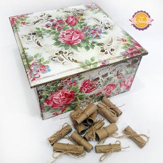 Скринька 100 причин любові Вінтажні троянди