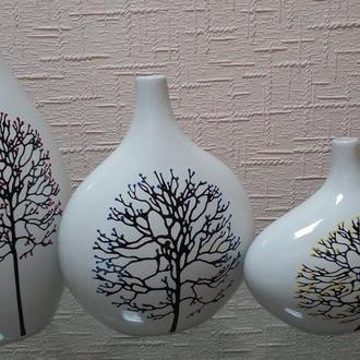Декоративные вазы с ручной росписью