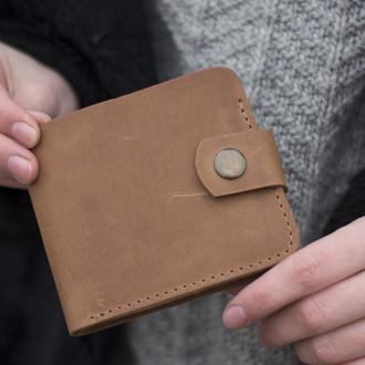Кожаный бумажник небольшого размера