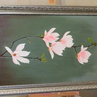 Картина маслом цветов ′Магнолии′