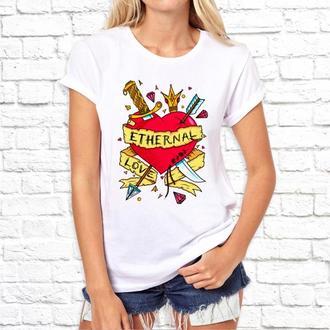 """Женская футболка Push IT с принтом """"Ethernal love"""""""