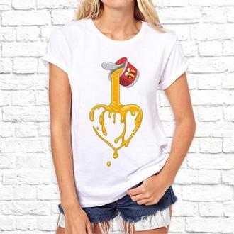 """Женская футболка Push IT с принтом """"Медовое сердце"""""""