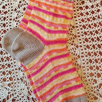 Носки вязаные из носочной пряжи