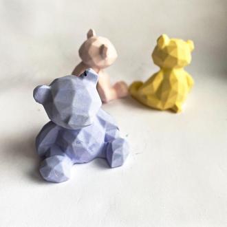 Полигональная фигура «медведь». Декор для дома. Бесплатная доставка Justin
