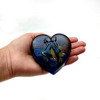 "Мило ""Сердечна романтика"" (purple_heart)"