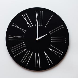 Деревянные настенные часы Classik_02 Black