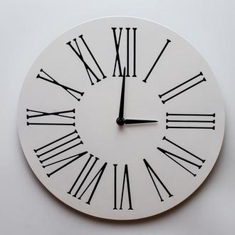 Настенные часы из дерева Classik_02 White