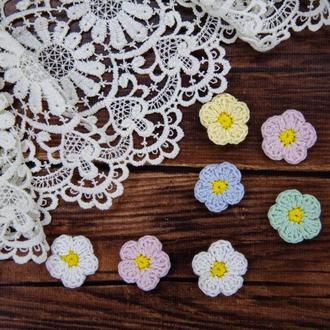 """Набор вязаных цветов """"Весеннее настроение"""""""