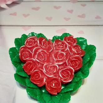 "Мыло  ""Сердце из роз"""