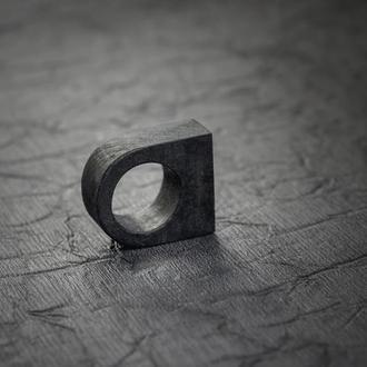 Перстень Класичний - дерево - унисекс - черное кольцо