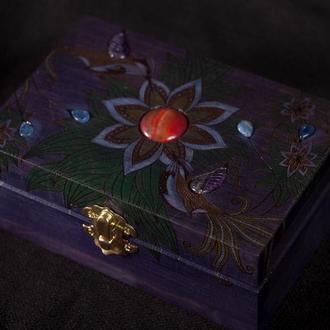 "Шкатулка для карт Таро ""Paradise Hummingbird 2"""
