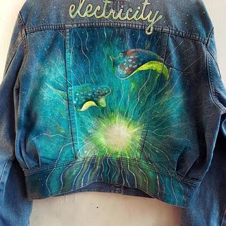 """""""Electricity"""" куртка с росписью"""