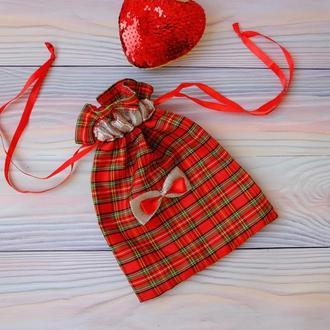 Эко мешок, торбочка, мешочек для подарка 03