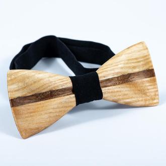 Дерев'яна краватка-метелик . Подарунок на річницю для чоловіка. Дерев'яний аксесуар.
