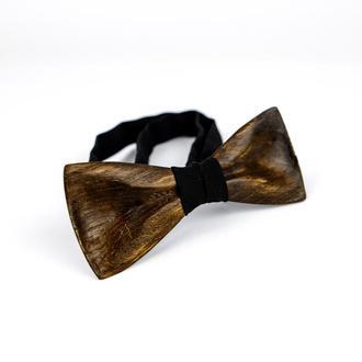 Деревянная галстук-бабочка ручной работы. Деревянный аксессуар.