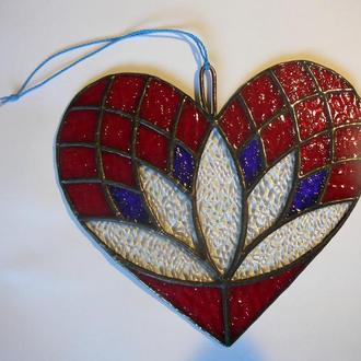 """витраж """"Серце"""" - подарок на день Святого Валентина"""