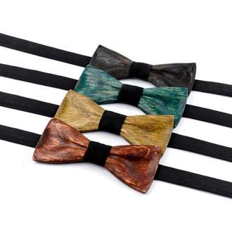Деревянная галстук-бабочка . Подарок на годовщину для мужа . Деревянный аксессуар.