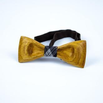 Дерев'яна краватка-метелик . Подарунок на для сина. Дерев'яний аксесуар.