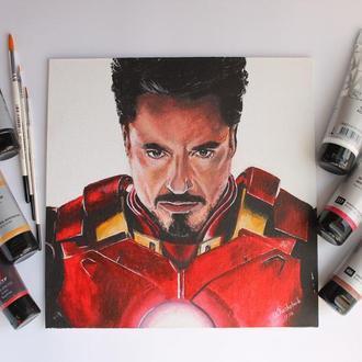 """Картина акрилом на полотні """"Iron man"""""""