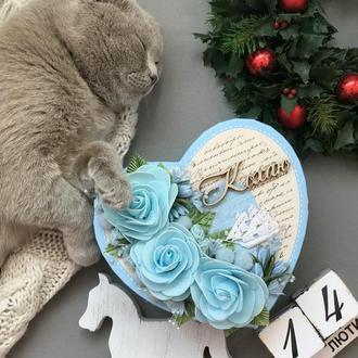 Коробка валентинка с корабликом