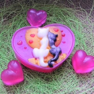 Мыло Котики в сердце