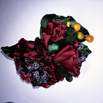 Автоматик 7см с цветами из летны атласной