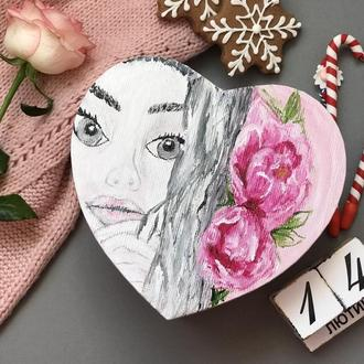 Коробка валентинка с записками 100 причин почему тебя люблю