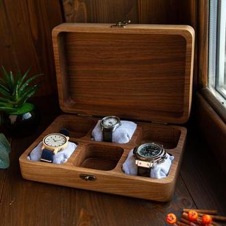 Шкатулка для часов, подарочная шкатулка, подарок мужу, подарок другу