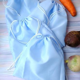 Эко мешок из болоньи, эко торбочка, мешок для продуктов,тканевой многоразовый пакет