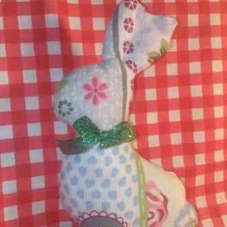 Пасхальные зайцы Игрушка из ткани Подарок на Пасху Сувенир