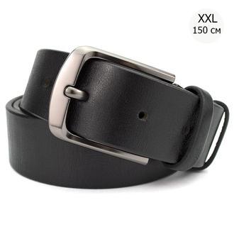 Ремень мужской кожаный KB-40 black (4 см) XXL