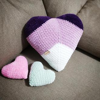 Декоративна подушка-сердечко