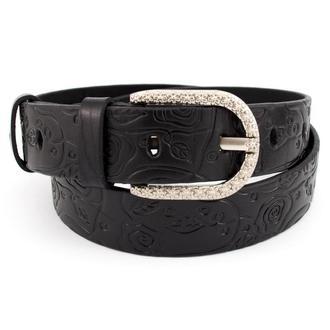 Женский кожаный ремень JK-3510 black (3,5 см)