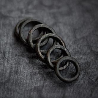 Перстень тонкий - обручки - унисекс - деревянные кольца - обручальные - тонкие
