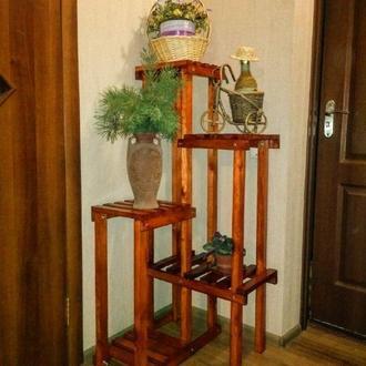 Полка для цветов из дерева