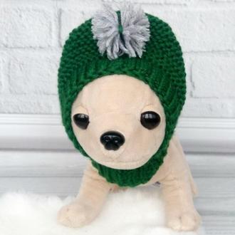 Теплая шапочка для маленьких собак
