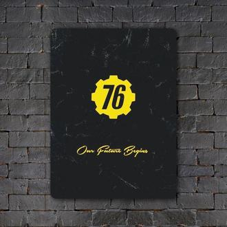 Постер (картина) табличка — VAULT-76 (4)