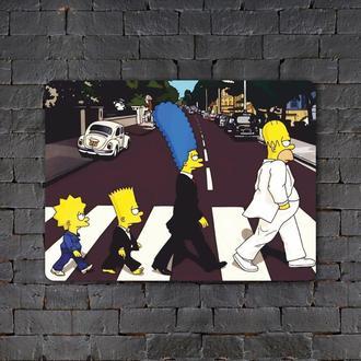 Постер (картина) табличка — Beatles-Simpsons