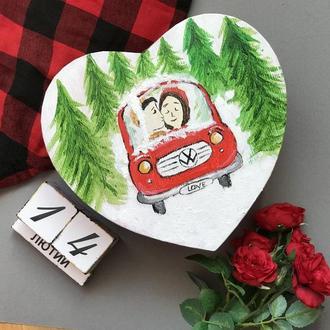 Сердечко-валентинка машинка з записками 100 причин чому я тебе кохаю
