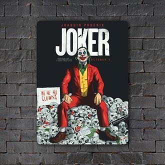 Постер (картина) табличка — JOKER skulls
