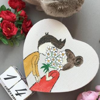 Серце-валентинка з записками 100 причин чому я тебе кохаю
