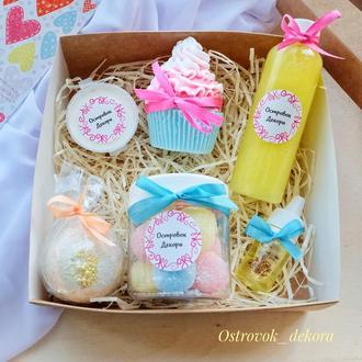 """Подарочный набор """"Sweet box"""" ,  подарок для девушки, жены,  подруги,  на день рождения"""