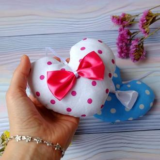 Сердечко-валентинка, сувенир ко дню влюбленных, игольница