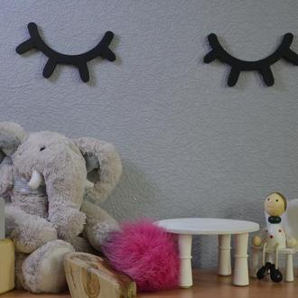 Декор Реснички для детской, спальни. В любом цвете. Декор стен. Сканди