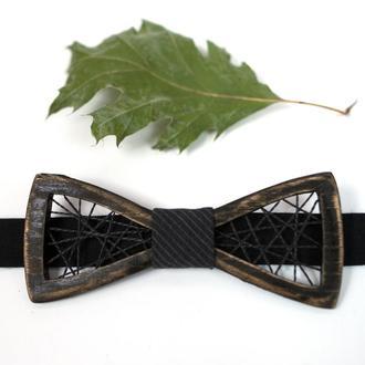 Деревянная галстук-бабочка . Подарок на годовщину. Деревянный аксессуар.