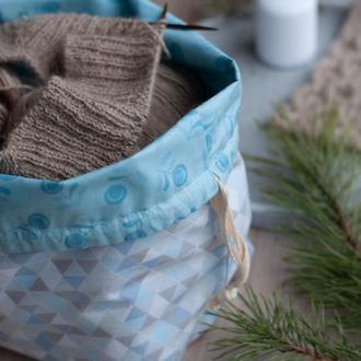 Проектная сумка, проектный мешочек, для вязания